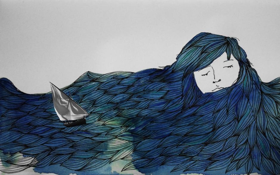 menina e o mar